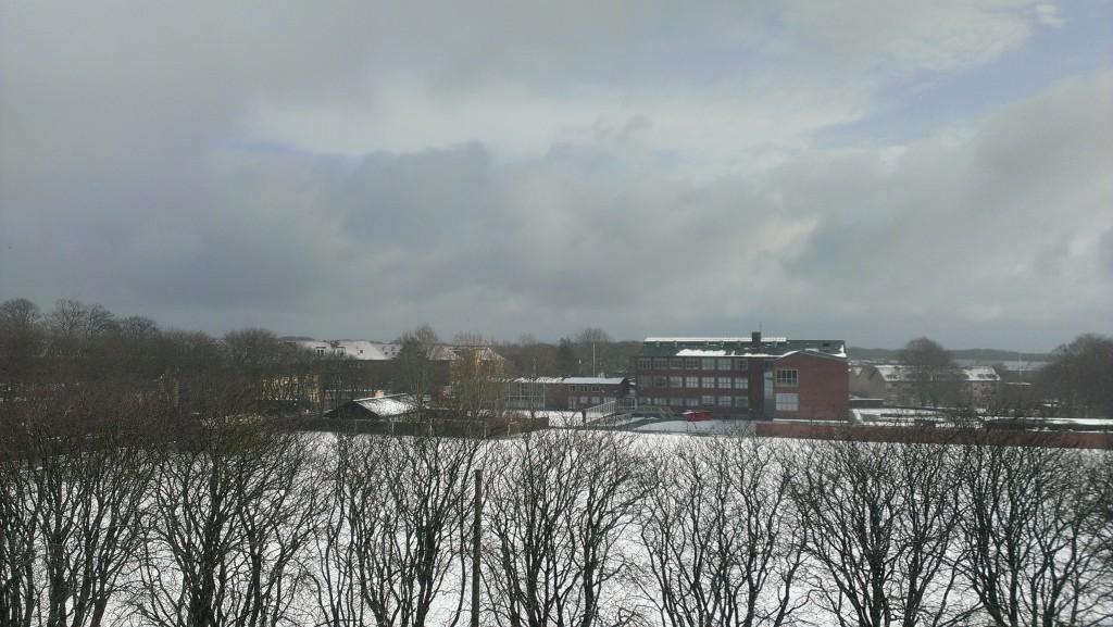 koldt vejr og sne i aarhus