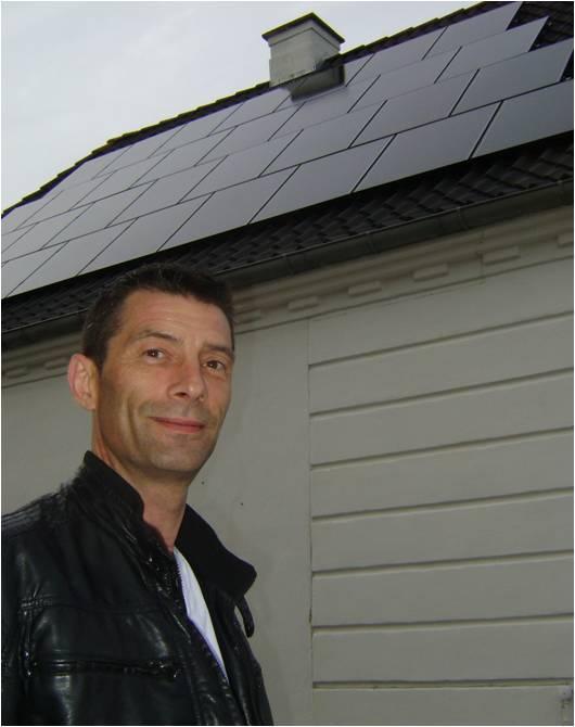 michael munk med hans solcelleanlæg