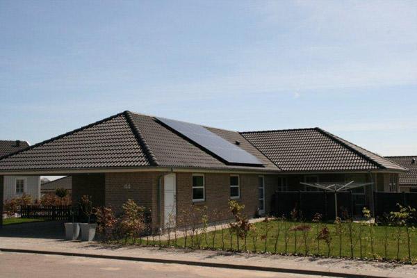 billede af nordsjællandsk solcelleanlæg